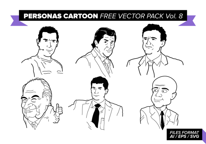 Personas Cartoon Free Vector Pack Vol. 8