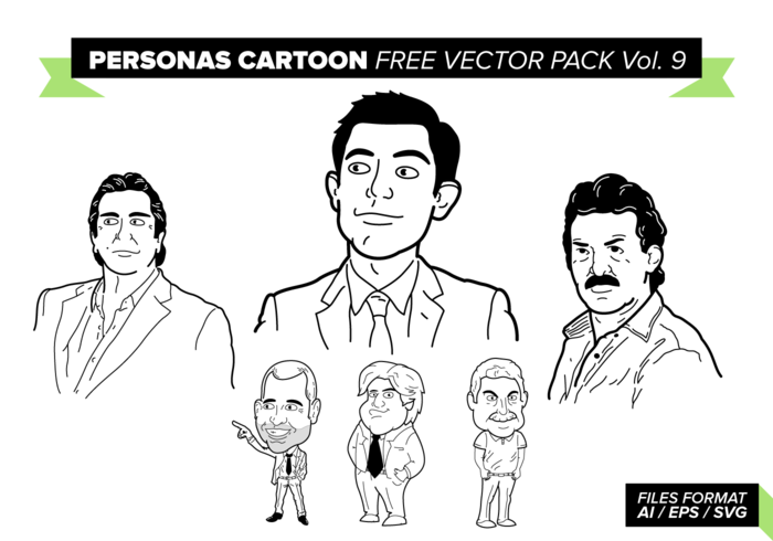 Personas cartoon free vector pack vol. 9