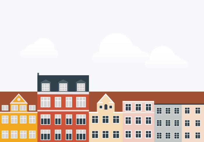 Illustrazione di edifici della città vettore