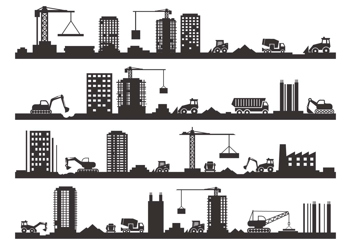 Free Construction Silhouette Vector - Download Free Vector ...
