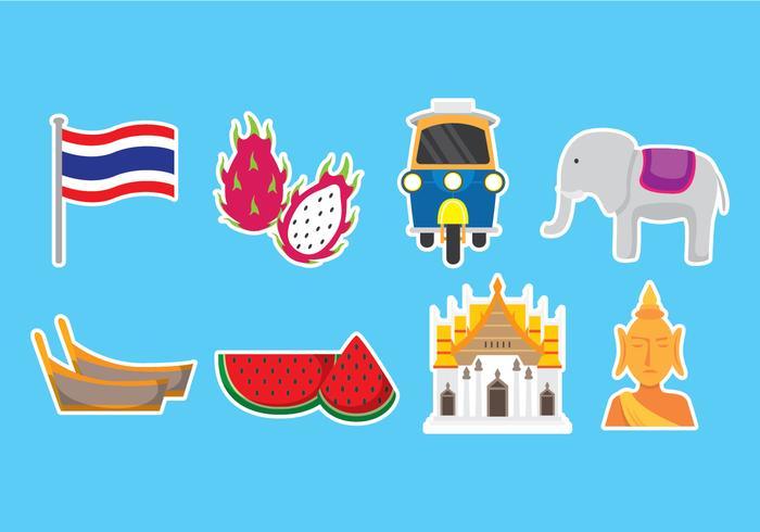 Bangkok Icons vector