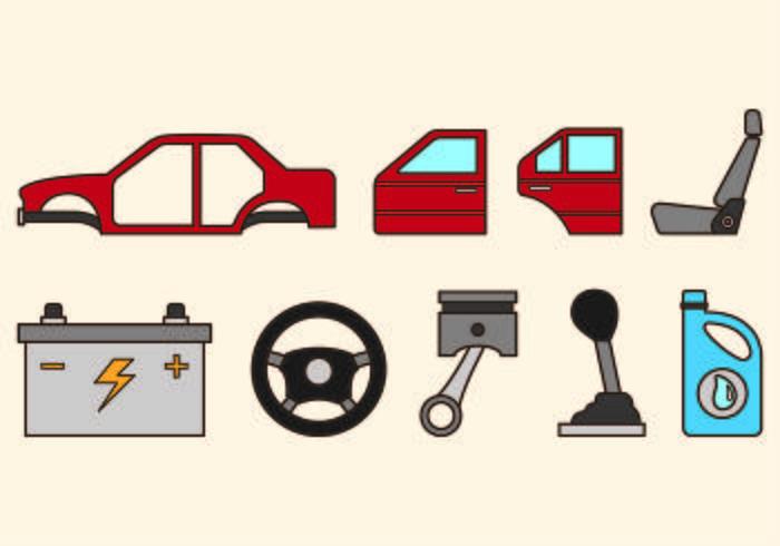 Set von Auto Körper Icons