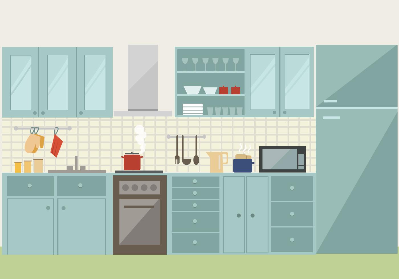 Vector Kitchen Illustration - Download Free Vector Art, Stock ...