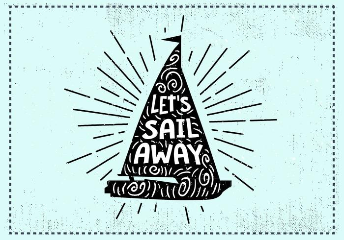 Free Hand Drawn Sail Background