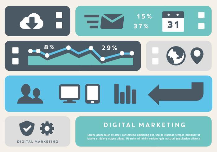 Free Digital Marketing Business Vector Elements