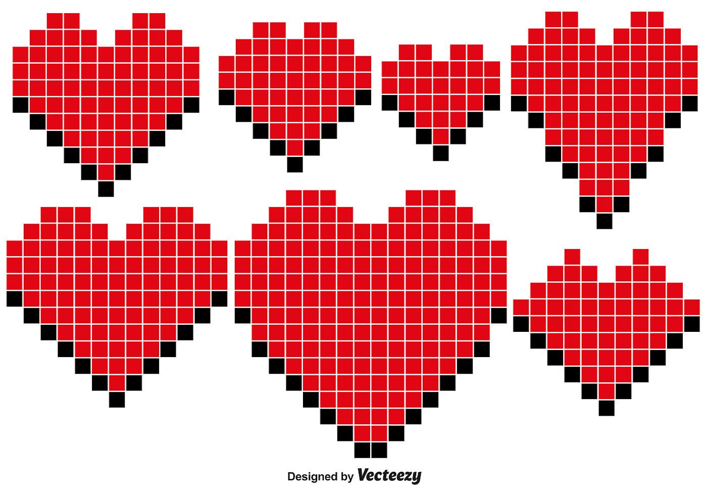 Pixel Heart Vector - (4181 Free Downloads)