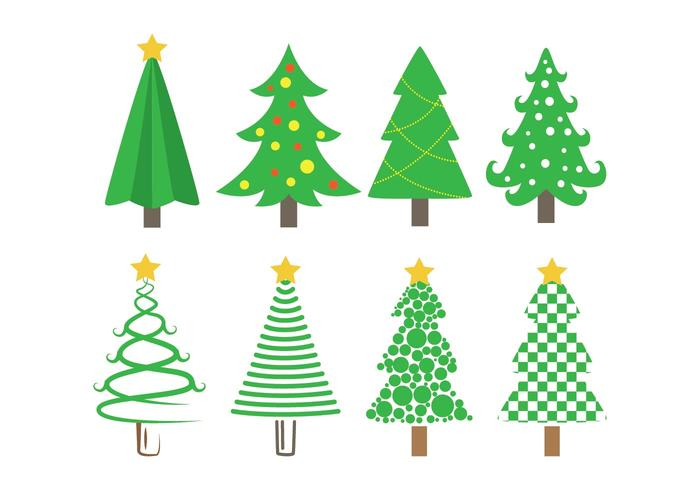 Sapin vector christmas tree icons download free vector art stock graphics images - Sapin clipart ...