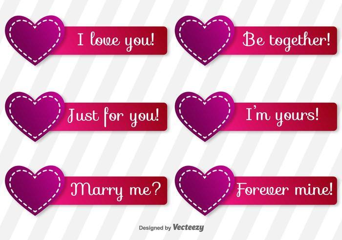 Etiquetas de los vectores del amor
