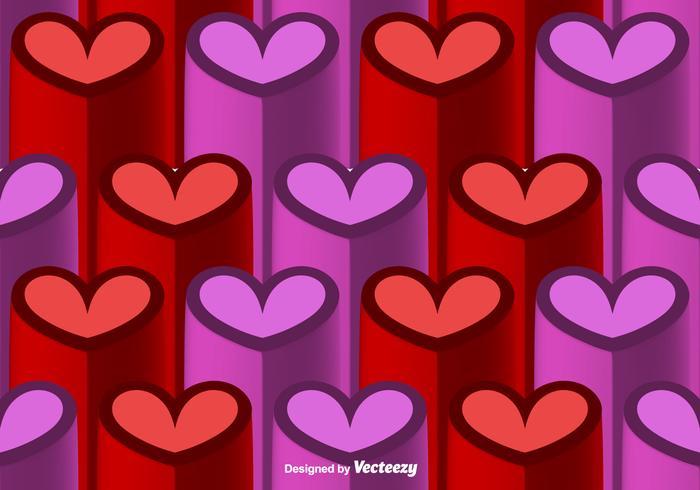 Vector 3D Heart Seamless Pattern