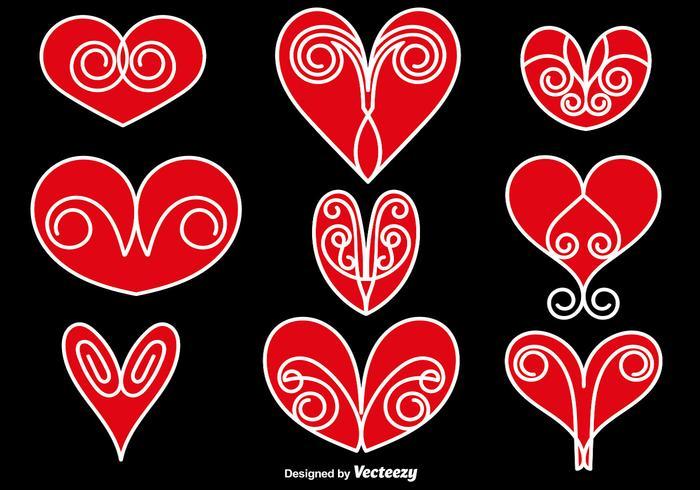 Collection vectorielle de coeurs abstraits