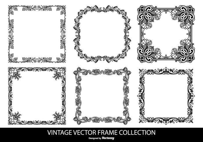 Vintage Vector Frames Collection