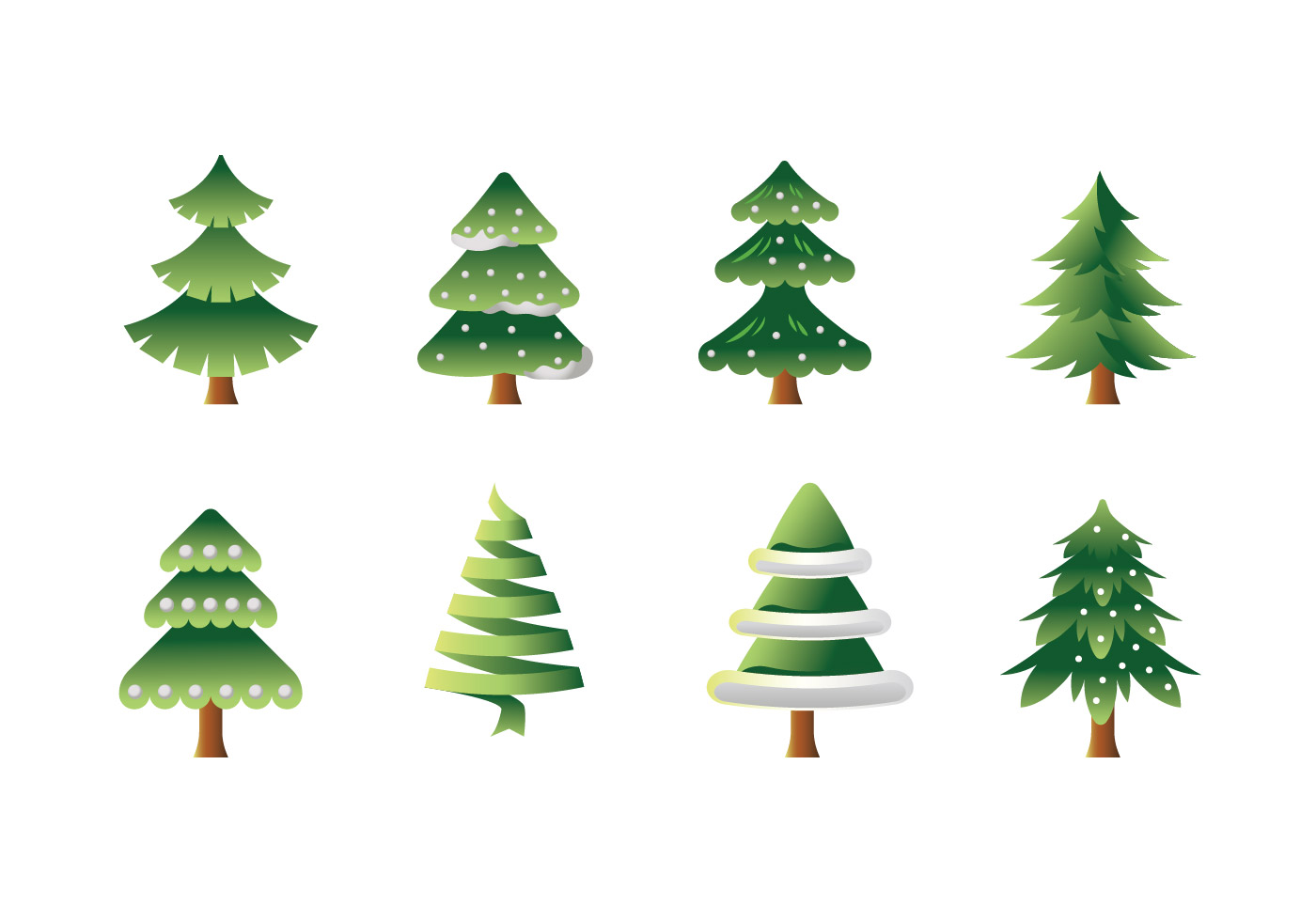 Vector collection of christmas trees or sapin download free vector art stock graphics images - Sapin clipart ...