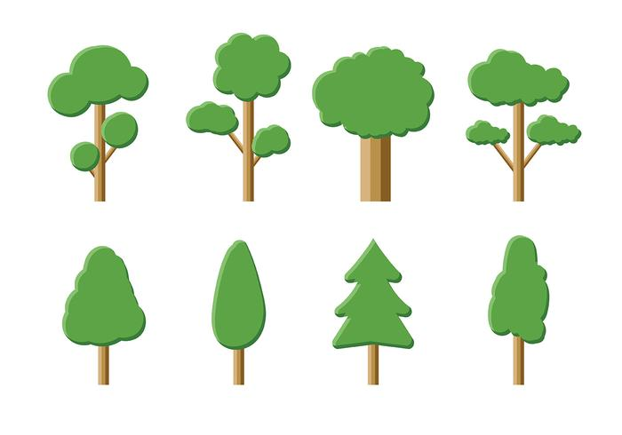 Árbol Icon Pack Vector