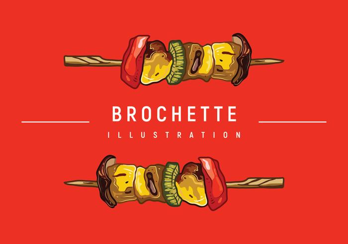 Brochette Illustration