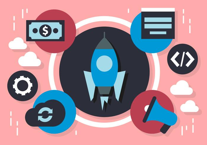 Elementi di marketing marketing piatto gratuito