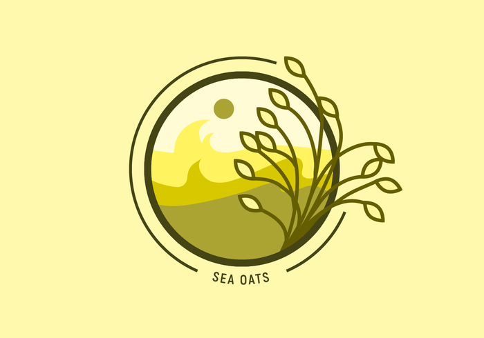 Yellow Sea Oats Logo Vector
