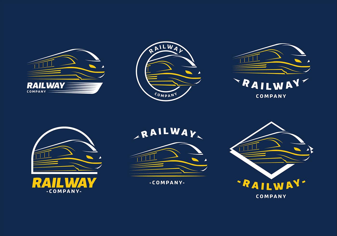 Train Logo Template Free Vector Download Free Vectors Clipart