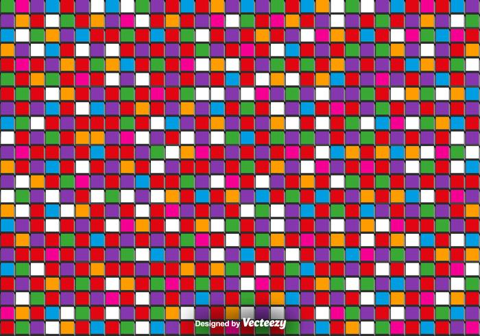 Vector 3D Bunte Fliesen - Vector Abstract Background