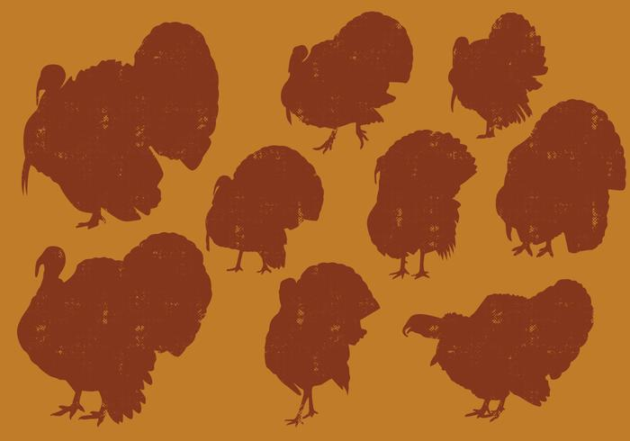 Turkeys Silhouettes