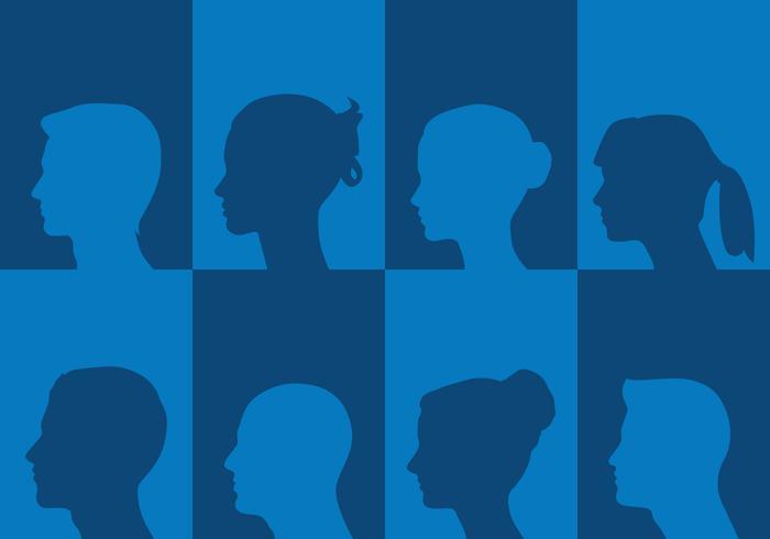 Profile Silhouettes vector