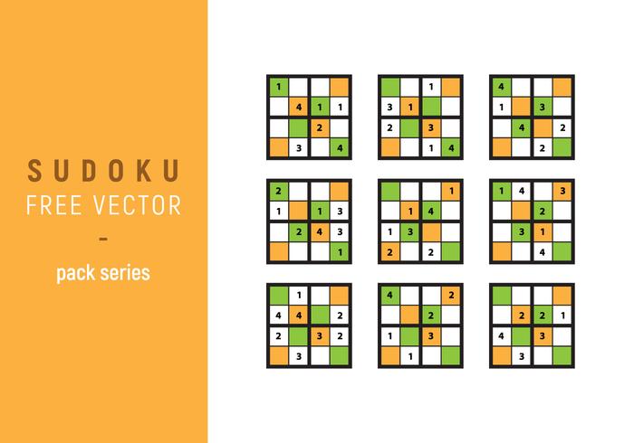 Serie di pacchetti vettoriali di Sudoku