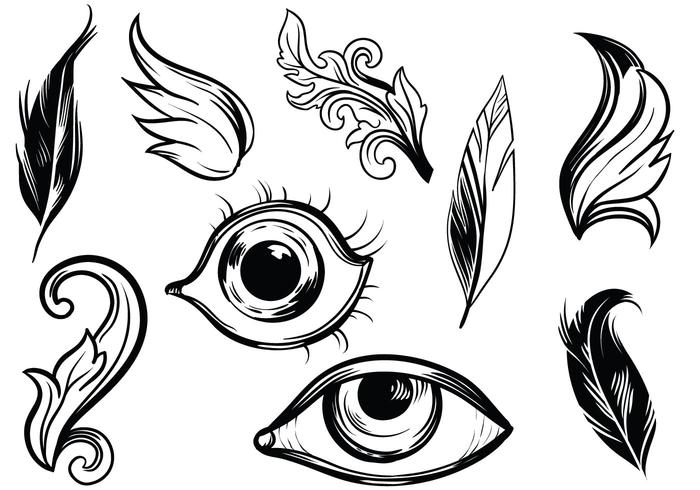 Detailed Hand Drawn Vectors