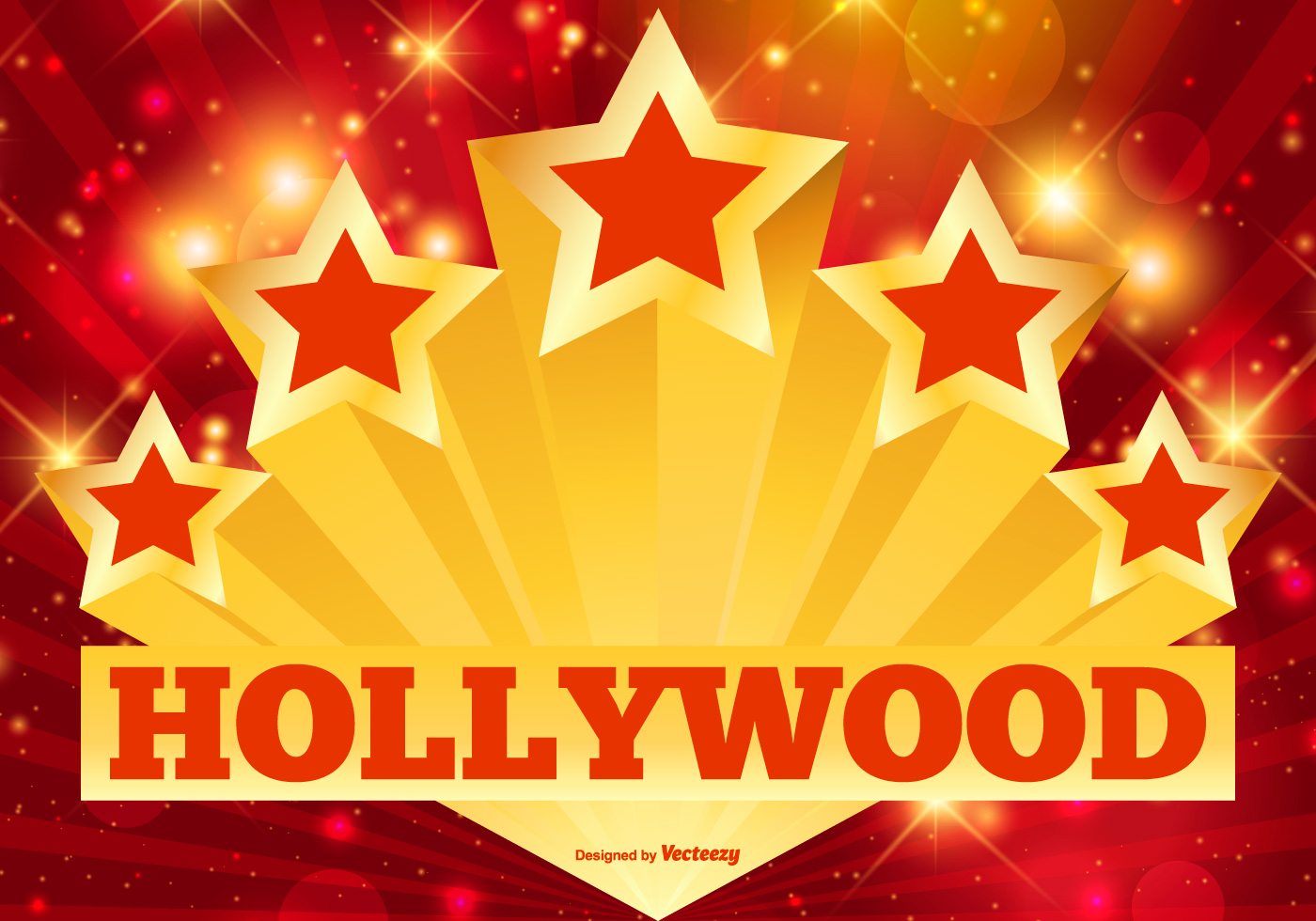 Hollywood Stars And Lights Illustration Download Free