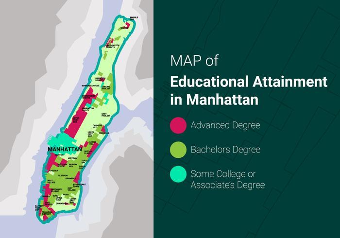Ilustración libre de Manhattan mapa vectorial
