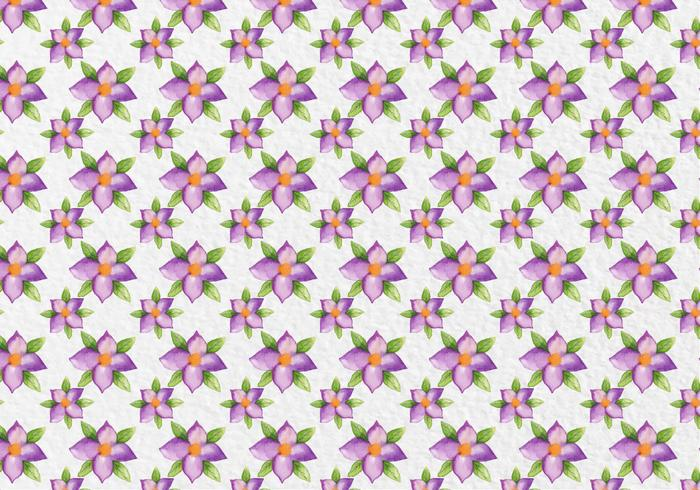 Free Vector Watercolor Purple Flowers Pattern