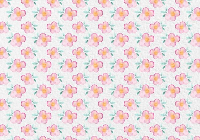 Free Vector Pink Watercolor Floral Pattern