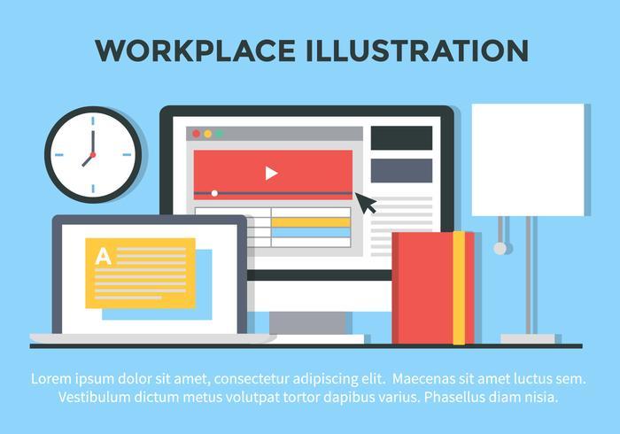 Ilustração vetorial livre Plano Office Design