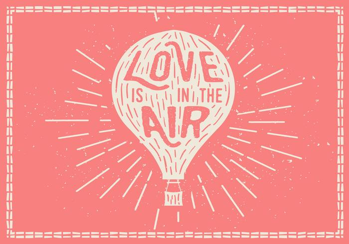 Free Hand Drawn Background Hot Air Balloon Vector