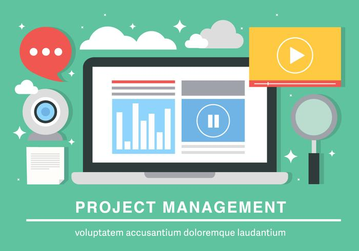 Flat Project Management Vector Background