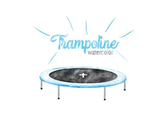 Trampoline Free Vector Acquerello