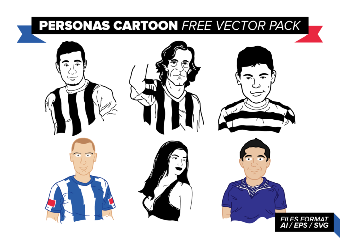 Personas Cartoon Gratuit Vector Pack