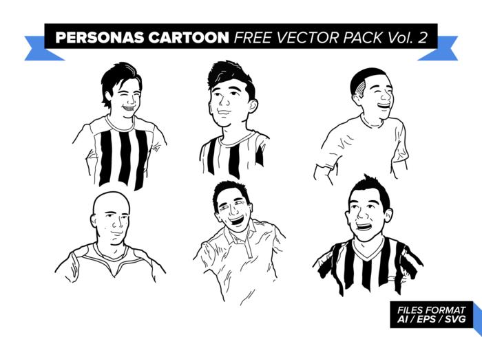 Personas de la historieta libre de paquete de vectores vol. 2