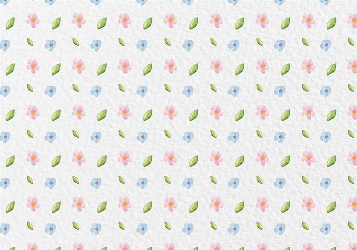 Patrón de vector libre de la acuarela Flores de la primavera