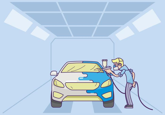Free Car Body Repaint Illustration