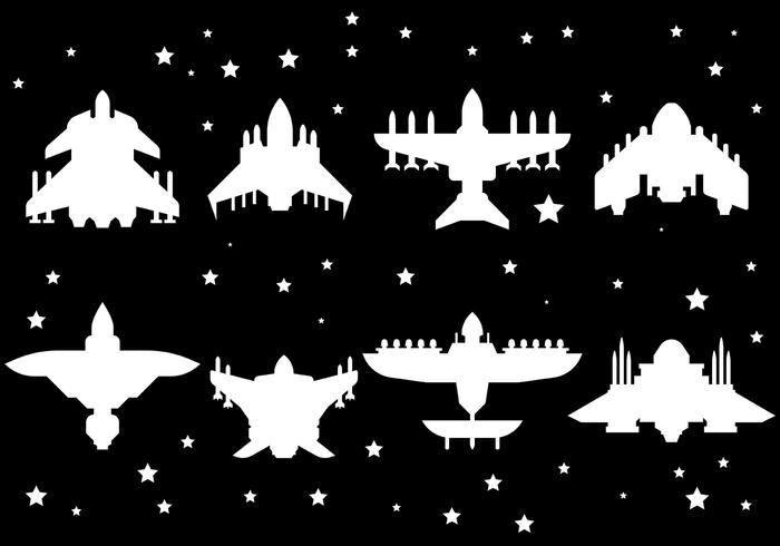 Kostenlose Starship Icons Vector