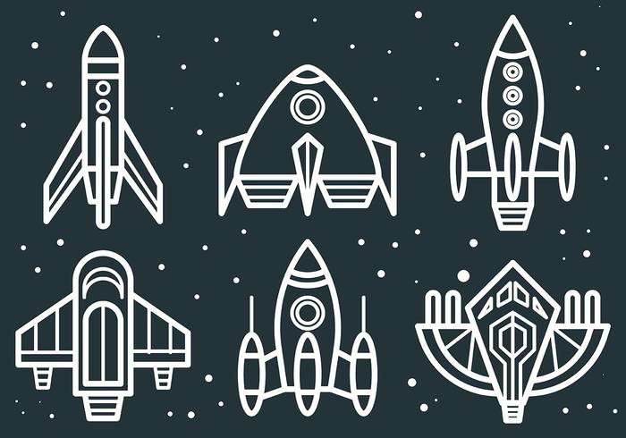 Free Vector Starship Icons