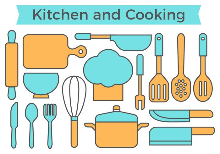 Free Kitchen and Cooking Icons Vector
