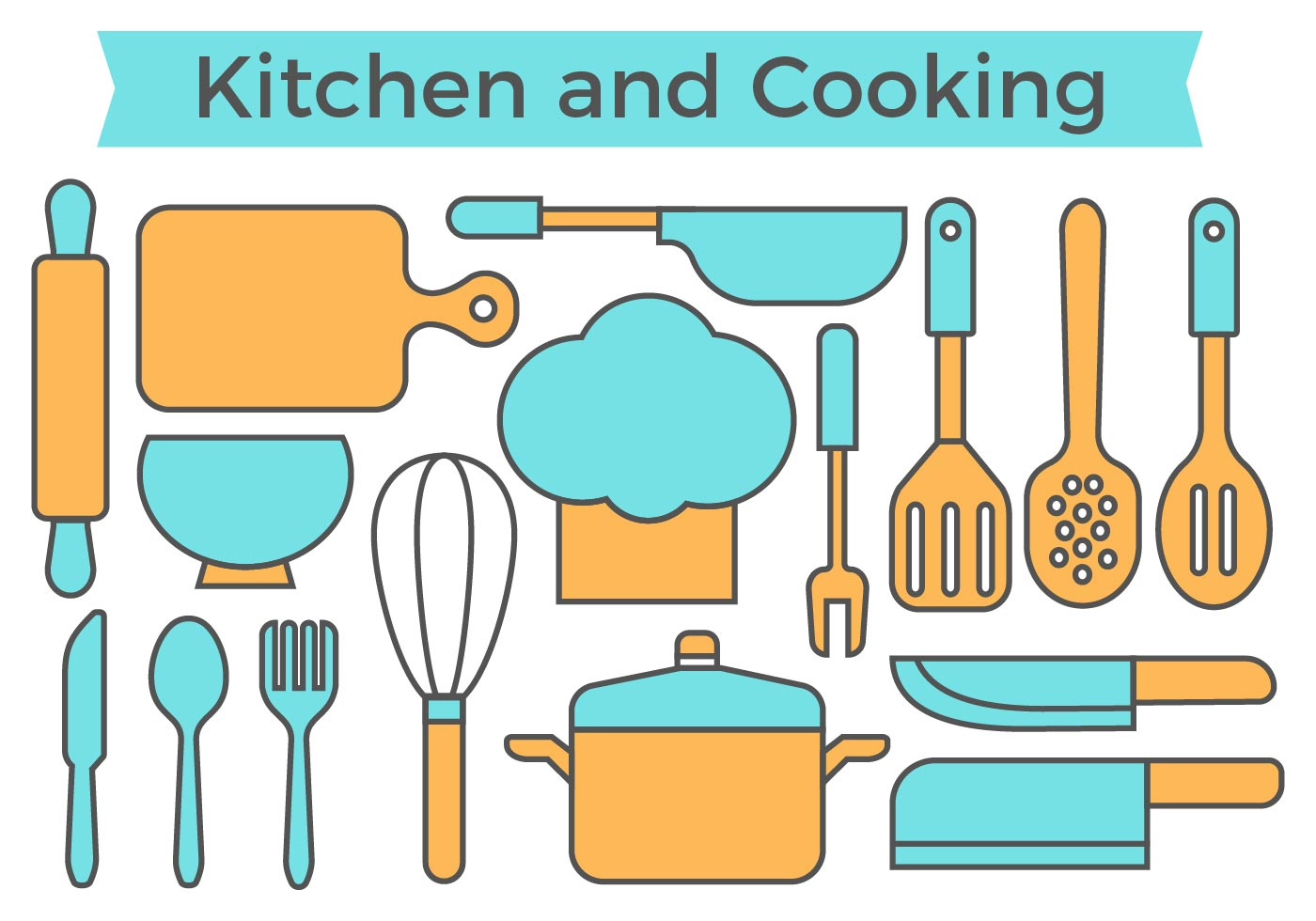 Free Kitchen and Cooking Icons Vector - Download Free Vector Art ...