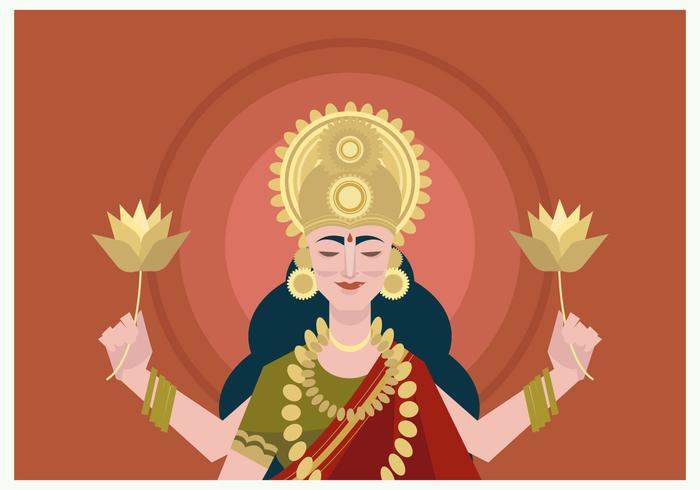 Potrait of Goddes Lakshmi Vector