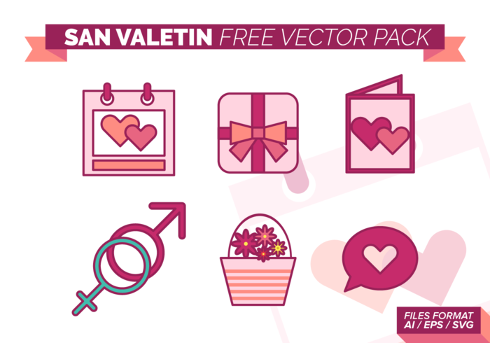 San Valetin Gratis Vector Pack