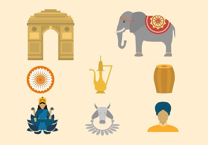 Livre Índia Colecção Vector