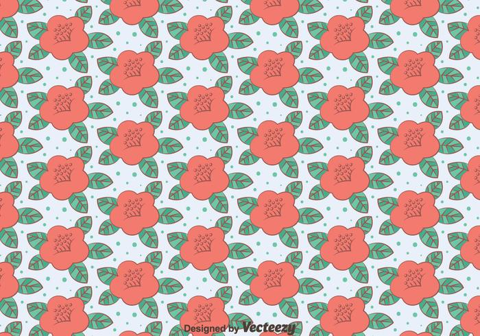 Pink Camellia Flowers Pattern