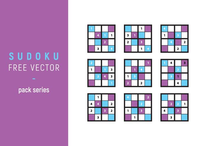 Ilustración Sudoku libres del vector