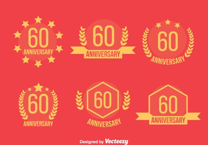 Vector 60 Emblem Annivecsary