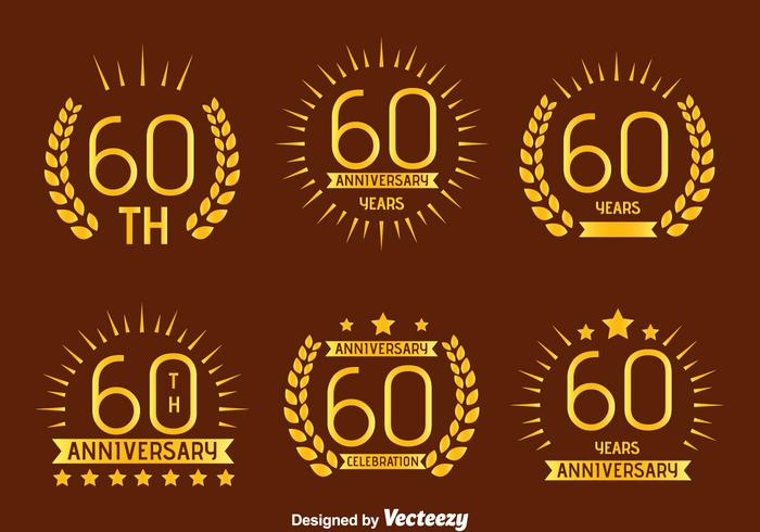 Nice 60 Vector Emblem Annivesray