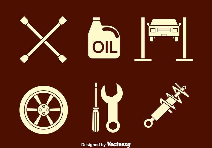 Vector Auto Body Iconos